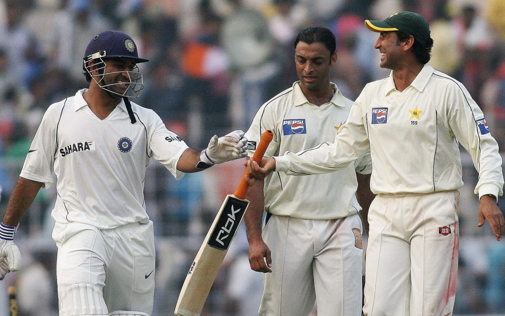 The last time India and Pakistan played Tests was in 2007
