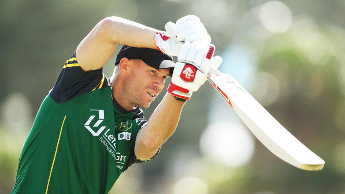 Warner marks return from elbow surgery with blazing ton