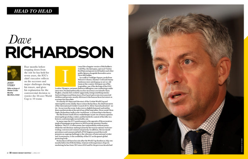Dave Richardson interview