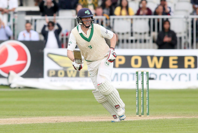 Kevin O'Brien led the way, with Ireland showing fight in their first Test against Pakistan