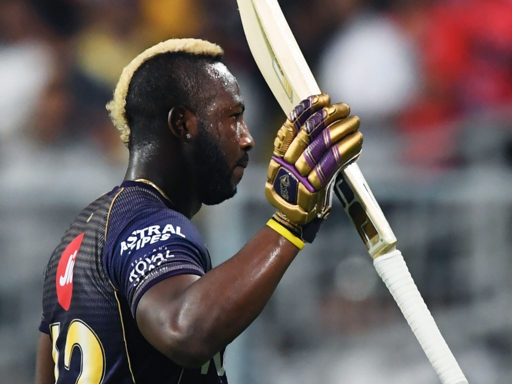 Andre Russell bludgeoned 48 off 17 balls and returned 2-21