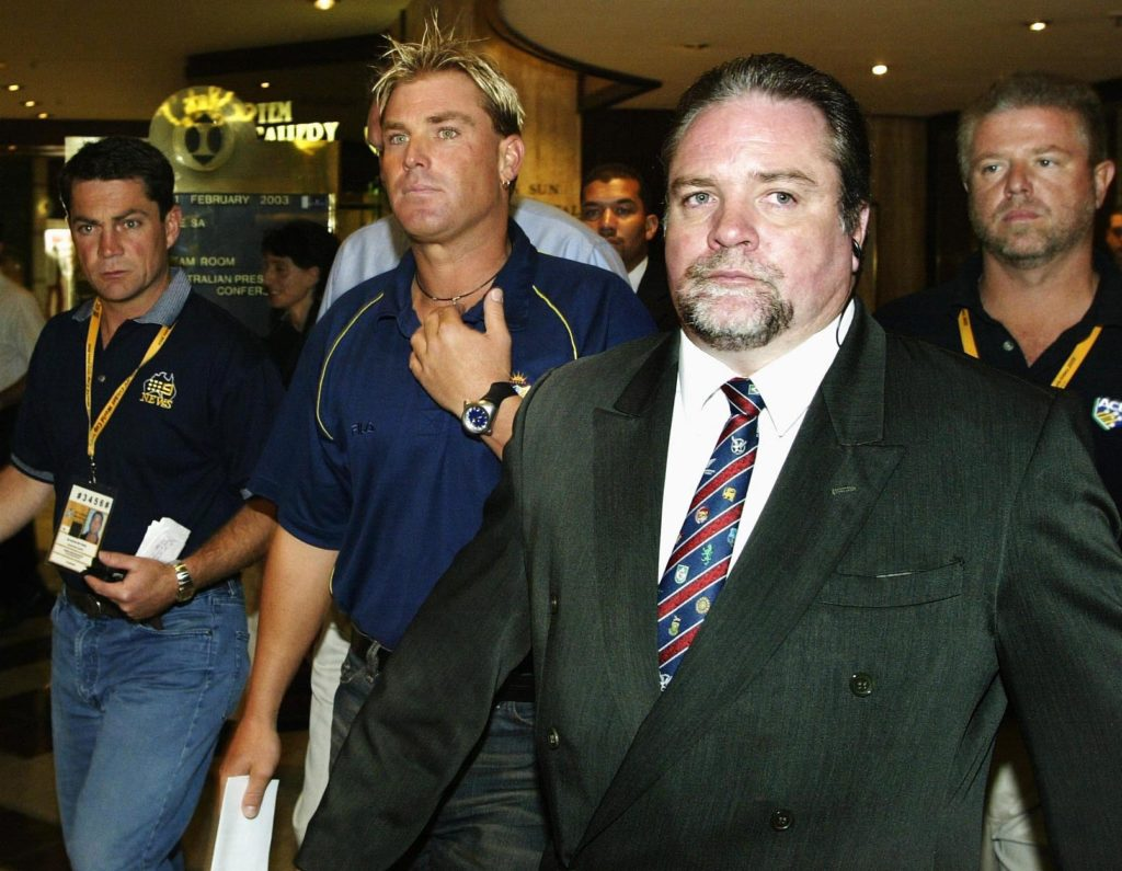 Shane Warne was banned for 12 months in 2003 after failing a drug test