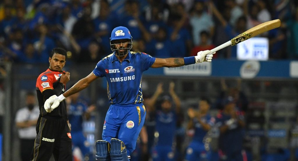 Hardik Pandya more or less equalled Russell in big-hitting