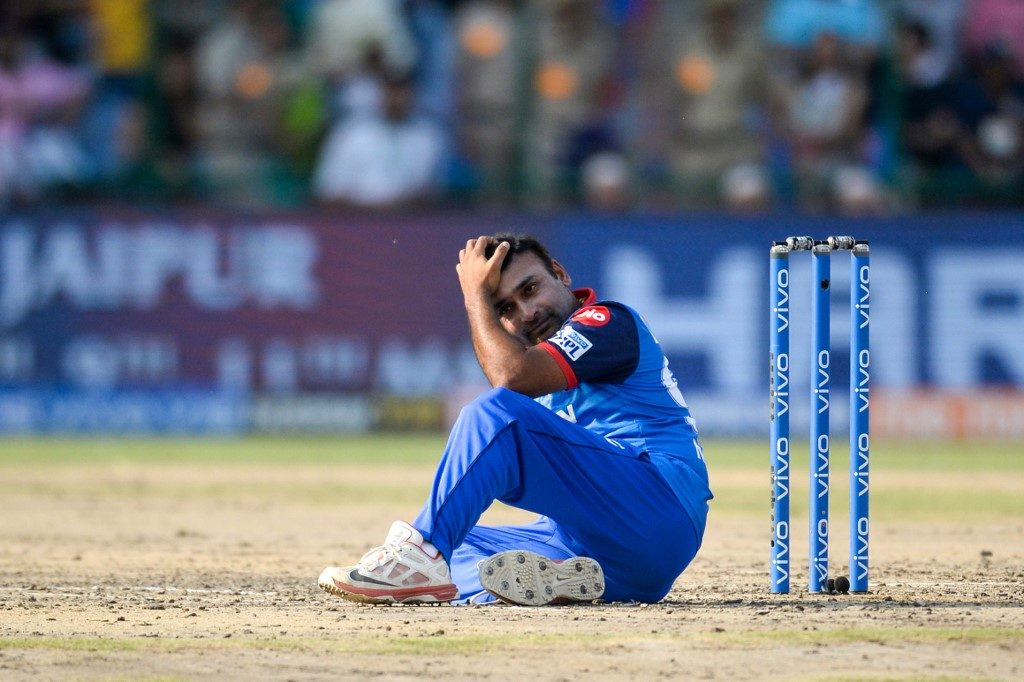 Amit Mishra was dismissed obstructing the field