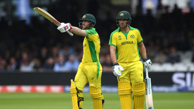 David Warner & Aaron Finch break World Cup opening partnership record