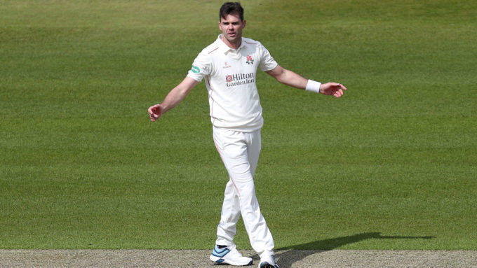 James Anderson suffers a low grade calf muscle tear