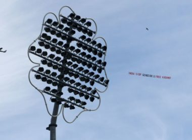 ICC statement questions police as new banner flown over Headingley