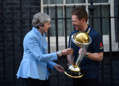 Eoin Morgan told teammates to 'calm it' at Number 10