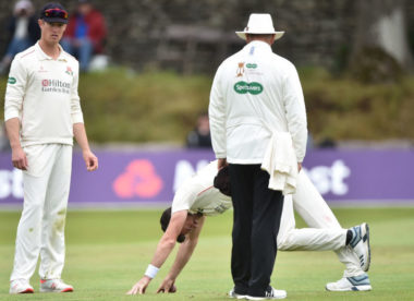 James Anderson sustains calf tightness for Lancashire a month before the Ashes