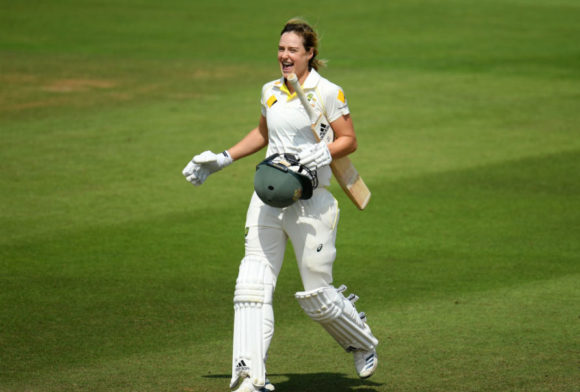 Ellyse Perry goes to another Ashes ton on rain-dominated day
