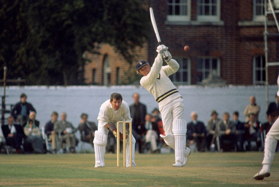 <em> Richards batting during his 104 in the John Player League match between Hampshire and Glamorgan</em>