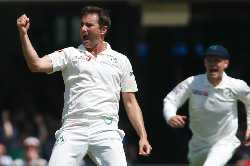 Tim Murtagh became the first Irish bowler to take a five-for in Tests