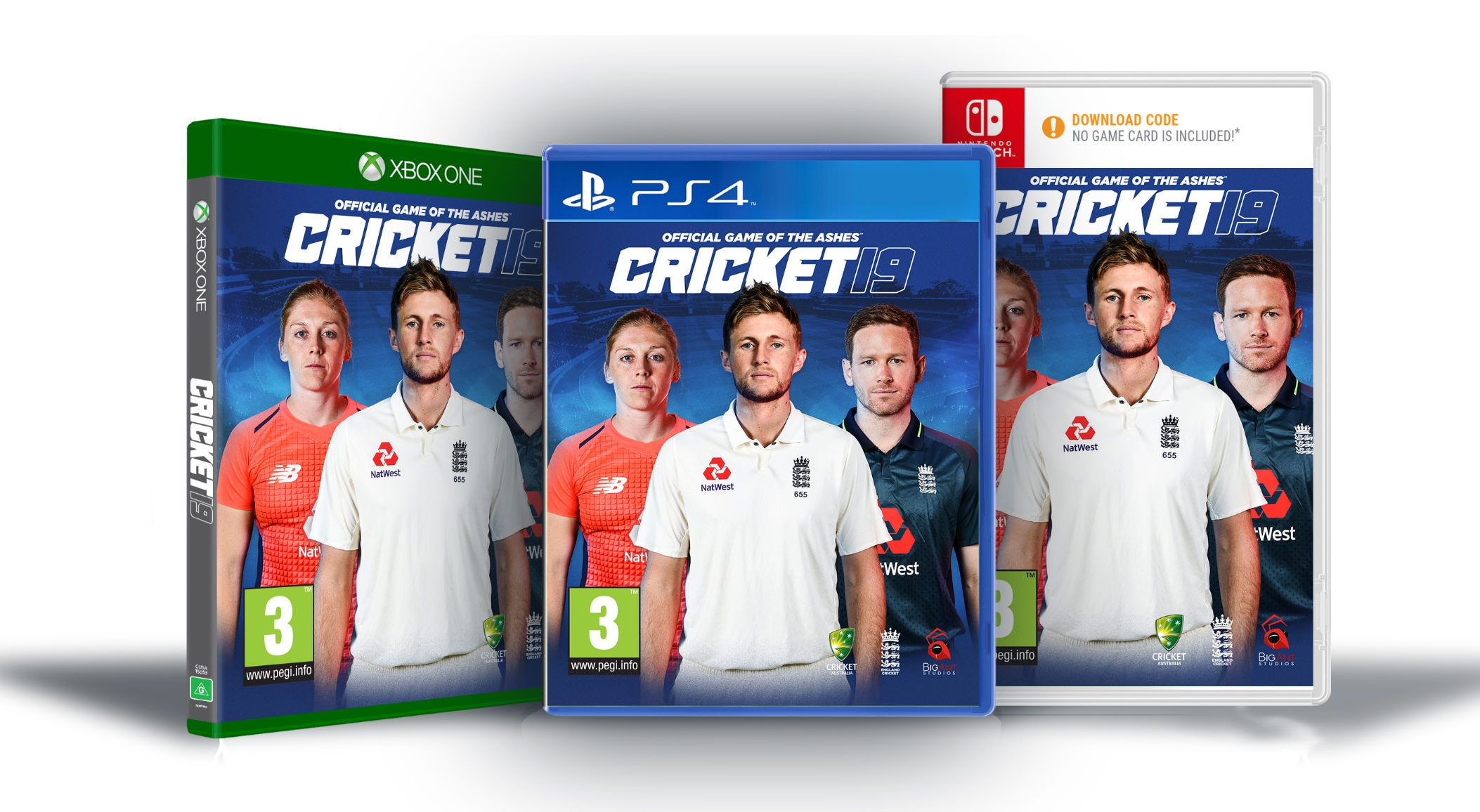 Cricket 19 - The Official Video Game of the Ashes is available on PS4, Xbox One and Nintendo Switch