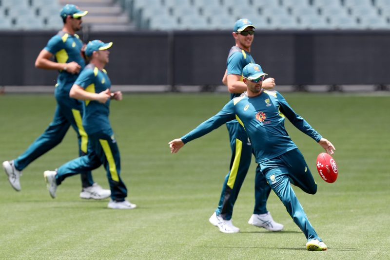 Nathan Lyon twisted his ankle while playing touch football