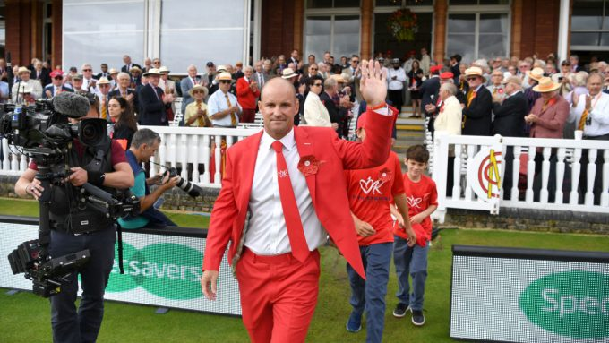 Lord's turns red in honour of Ruth Strauss Foundation