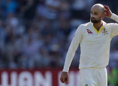 Touch football session goes awry as Nathan Lyon twists ankle