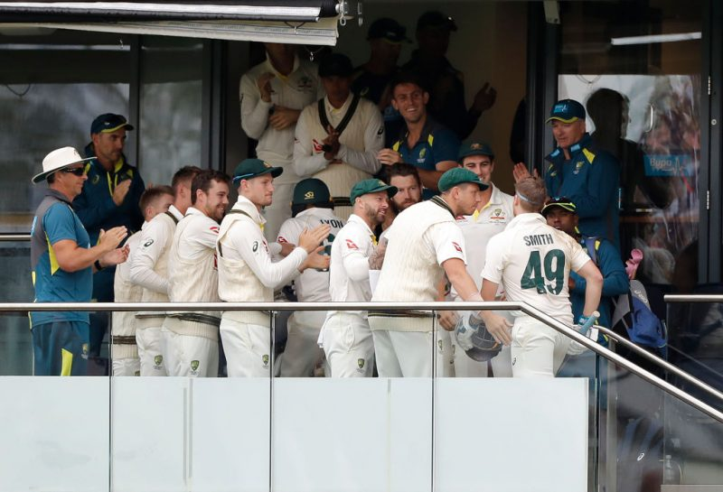 Smith was touched by his team-mates' reaction to a special hundred