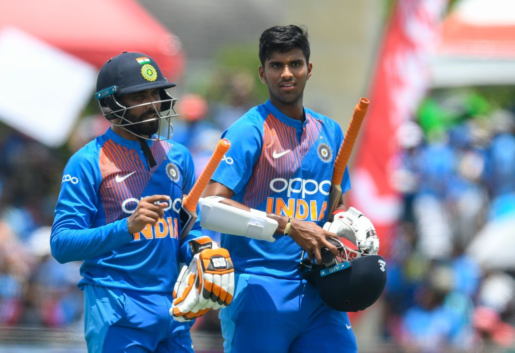 Washington Sundar bowled in tandem with Ravindra Jadeja
