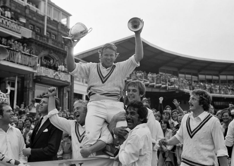 Procter, the Gloucestershire captain, was lifted onto the shoulders of his teammates their side won the Benson and Hedges Cup Final against Kent by 64 runs at Lord's