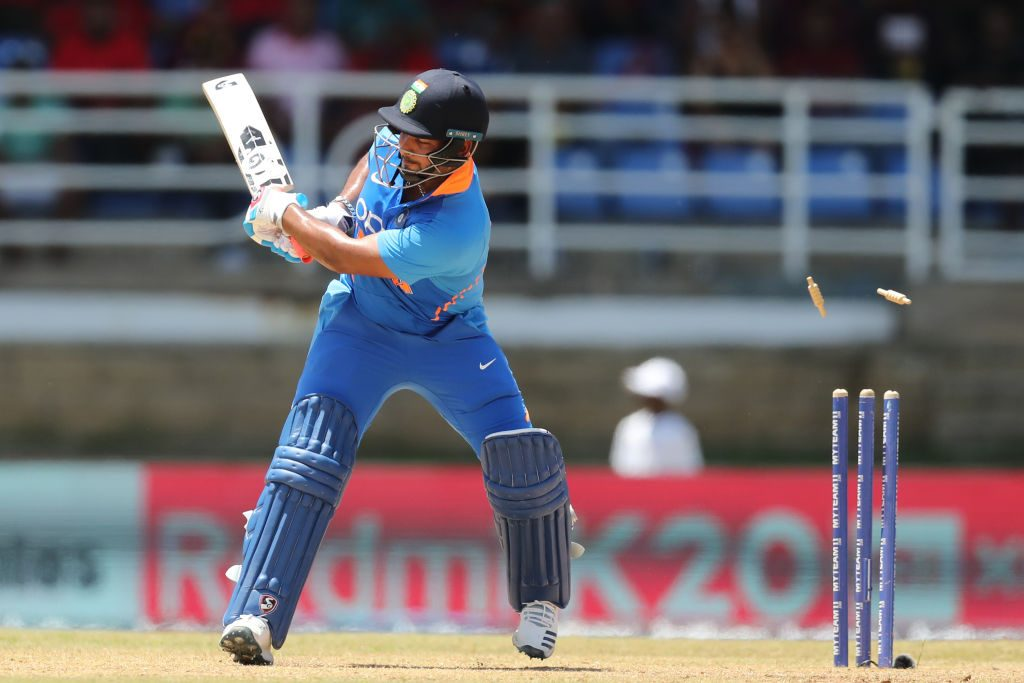 Pant was dismissed for two golden ducks against West Indies