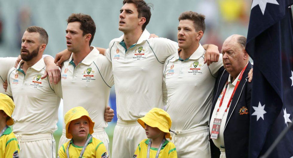 Australian team at the toss