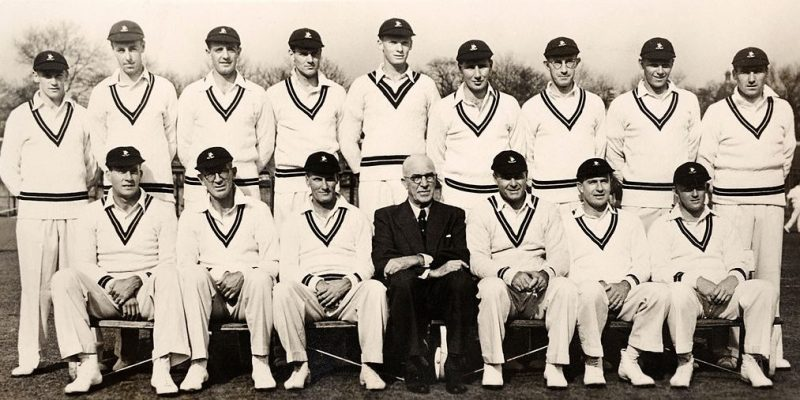 South African team during their tour to England in 1951, led by Dudley Nourse (seated third from left)