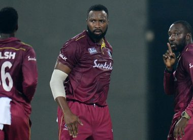 Kesrick Williams silences Virat Kohli with finger-on-lips celebration