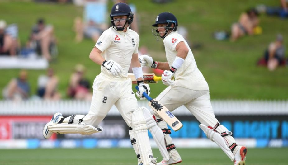 Joe Root and Ollie Pope during the 2nd Test