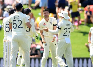 The four Englishmen to take a wicket with the first ball of a Test