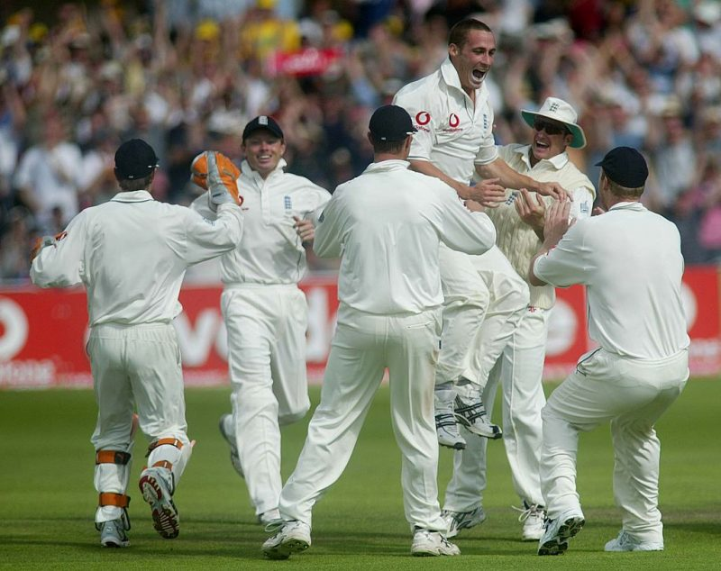 Simon Jones returned 6-53 against Australia at Old Trafford, to surpass his father's figures for England