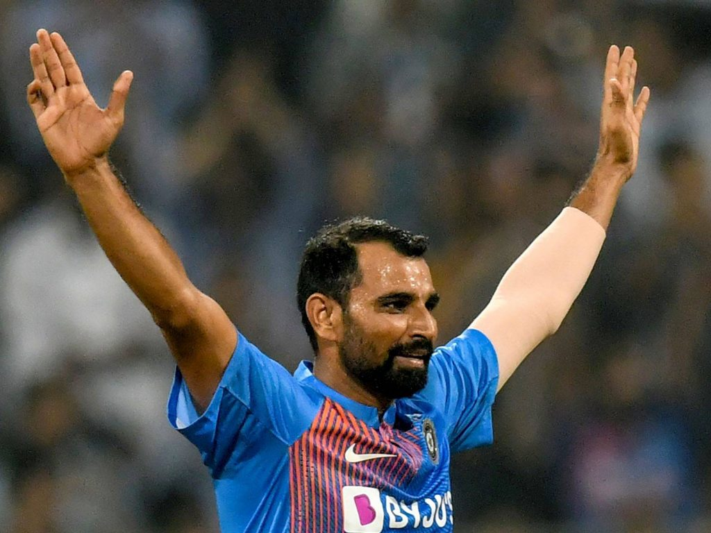 Mohammed Shami took his first T20I wicket since 2016