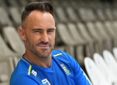 Du Plessis suggests two weeks' isolation before and after T20 World Cup
