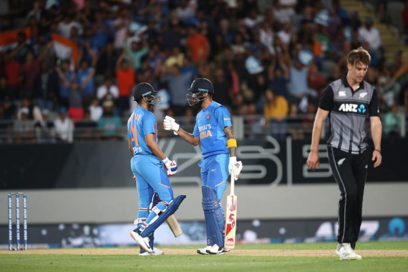 Iyer and Rahul shared an important 86-run stand in the second T20I against New Zealand