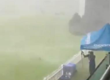 Watch: 'Tornado stops play' in England v Zimbabwe U19 clash