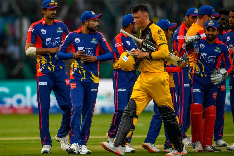 A mobile phone was seen in use during Karachi Kings's PSL 2020 clash against Peshawar Zalmi