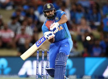 Rohit surpasses Kohli for most 50-plus scores in T20Is, limps off the field with calf discomfort
