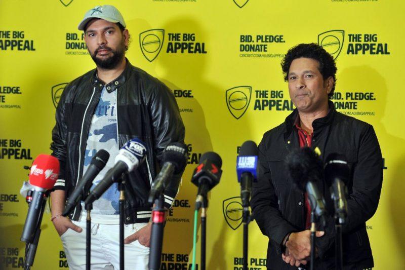 Yuvraj Singh and Sachin Tendulkar are part of the bushfire relief efforts