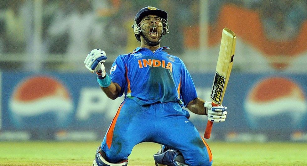 Yuvraj Singh made a fifty at the 2011 World Cup quarter-final against Australia