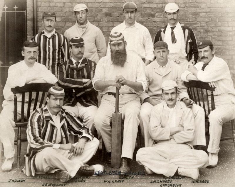 Stanley Jackson, standing in the back row on the right, with his Gentlemen, including WG Grace, ahead of the clash against the Players