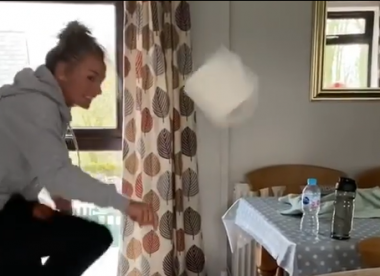 Compilation: Cricketers take the Toilet Roll Challenge with mixed results