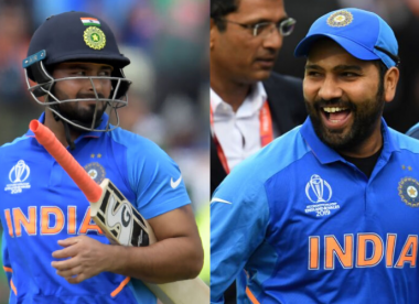 Rohit reminds Pant who the real six-hitting boss is